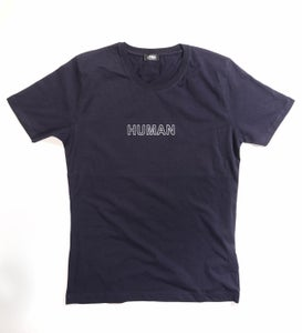 Image of Männer T-Shirt HUMAN navyblau