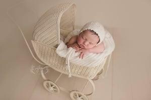 Image of Harper Victorian Bonnet, Solid Eco Colors,  Newborn