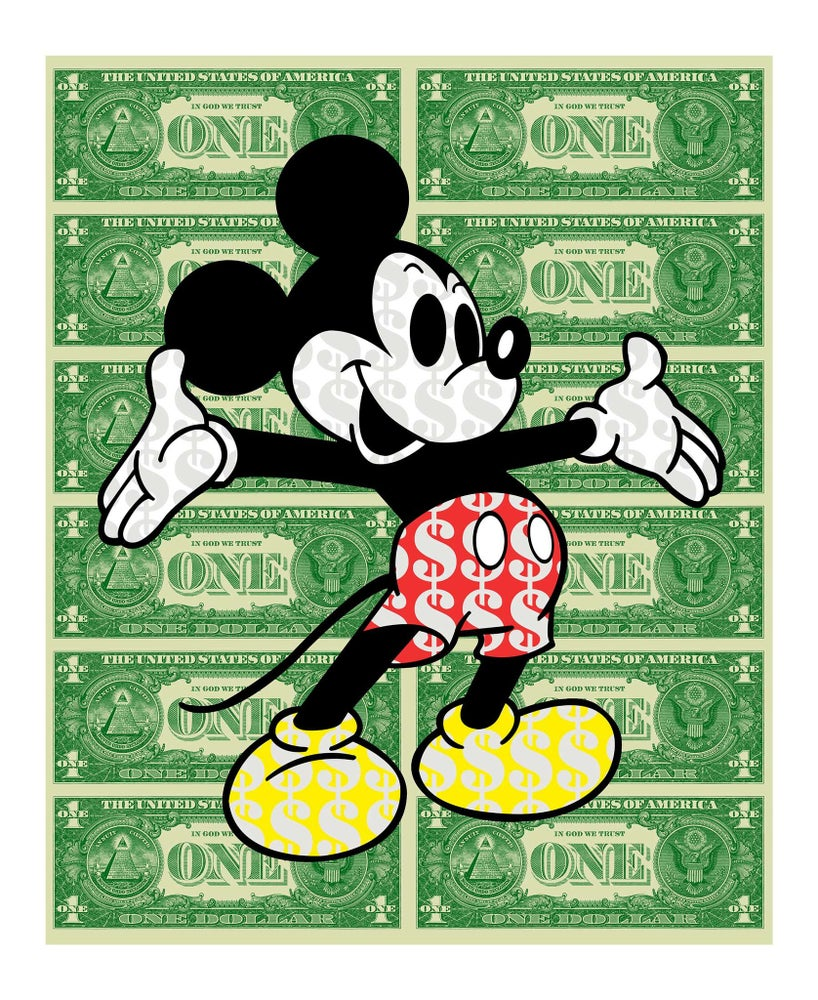Image of BEN ALLEN - MONSTER MICKEY - XL LIMITED EDITION of 35 - 63CM X 53CM - 6 COLOUR SCREEN PRINT