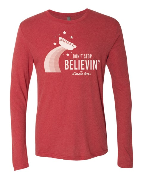 Image of Don't Stop, Red, Long Sleeve