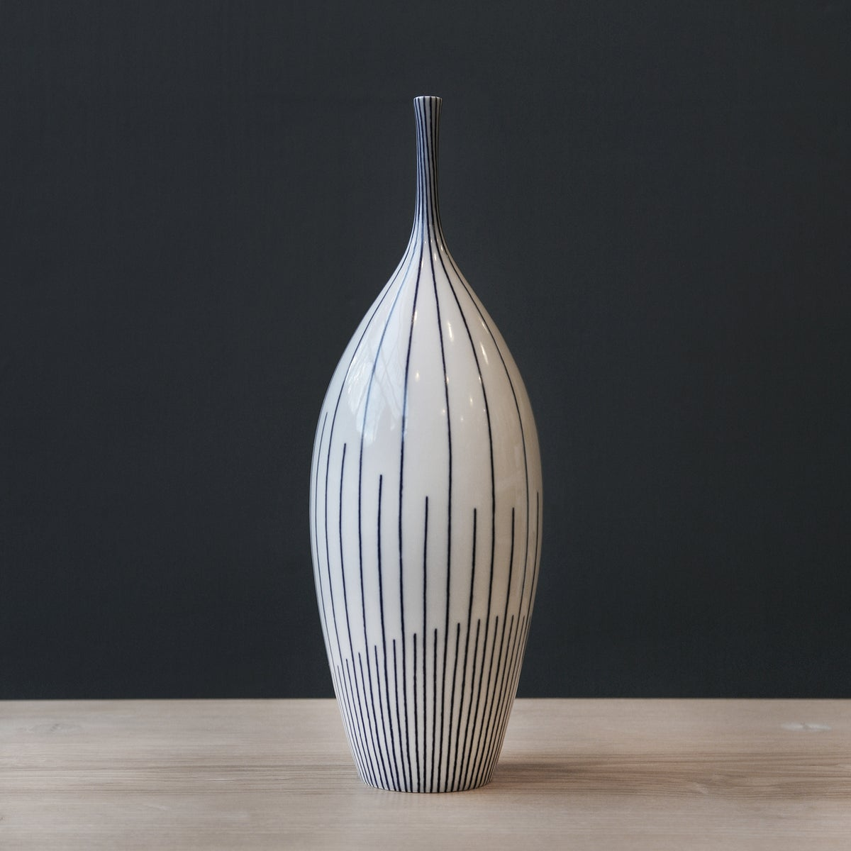 Image of Extra Large Twisted Lines Bottle by Rhian Malin