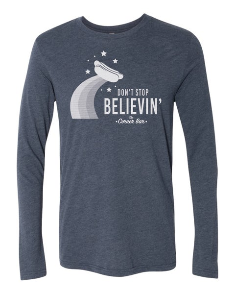 Image of Don't Stop, Blue, Long Sleeve