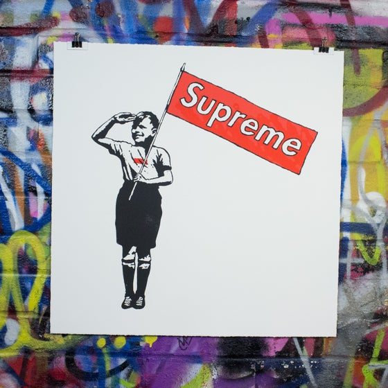 "Image of ""Supreme Steve"" Red Box Logo"