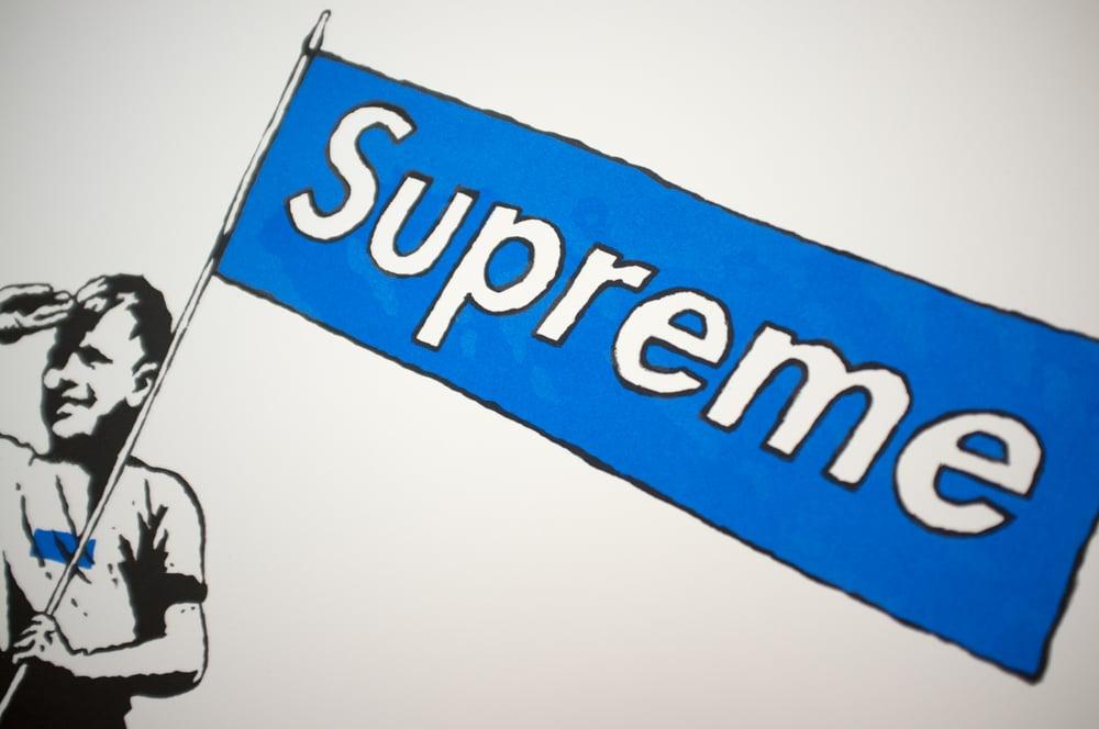 "Image of ""Supreme Steve"" Blue Box Logo"