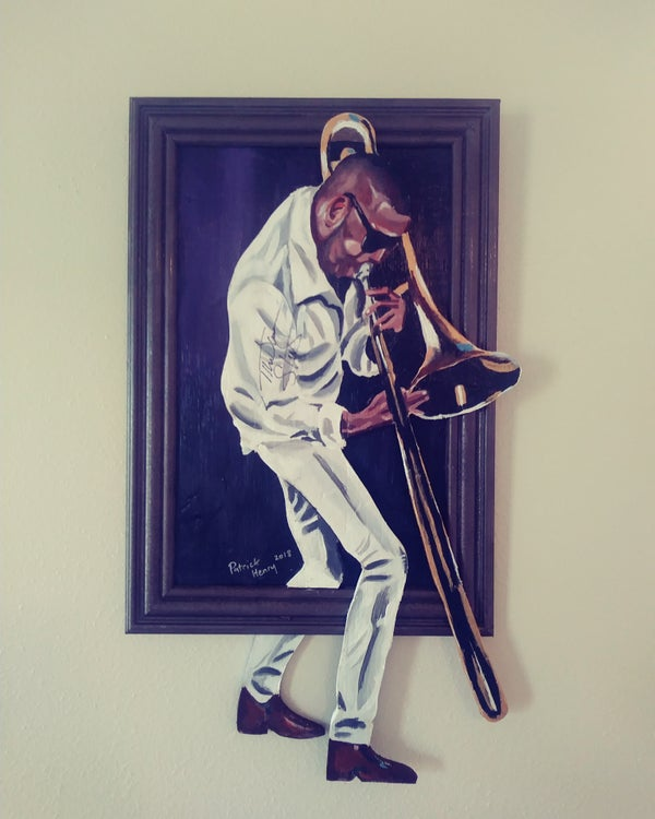 """Image of Trombone Shorty """"Out da Frame"""" (autographed by trombone shorty)"""