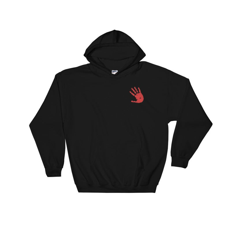 Image of TurtleGang Hands On Embroidered Hooded Sweatshirt Blk