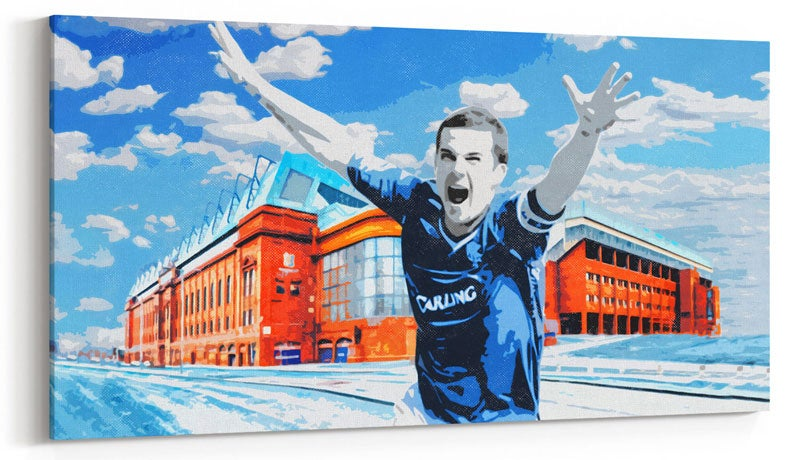 Image of Barry Ferguson, Ibrox Celebration Canvas