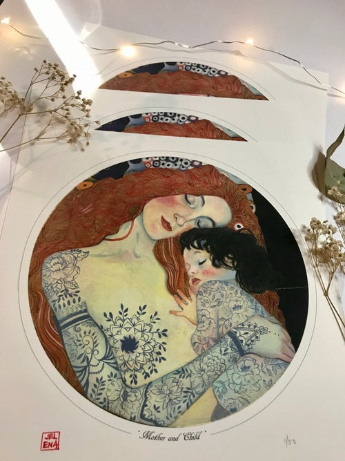 """Image of """"Mother and Child"""" Limited edition print"""
