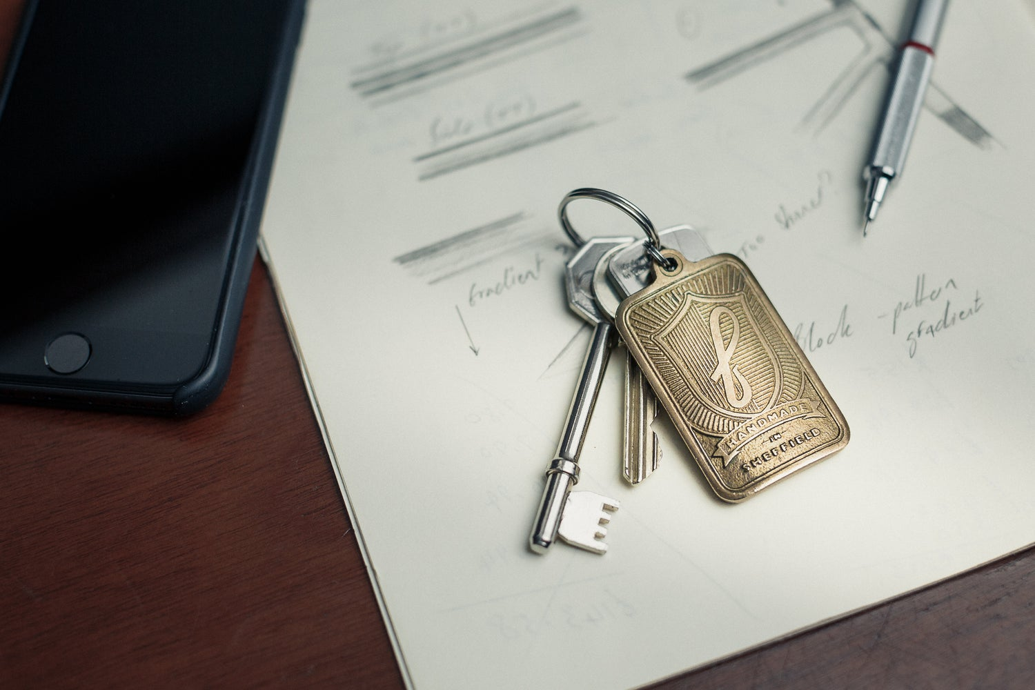 Image of Investment cast keyring
