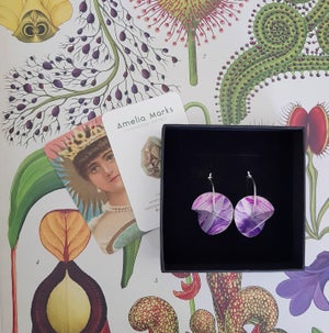 Image of Whirligig Earrings - Deep Pink Petal