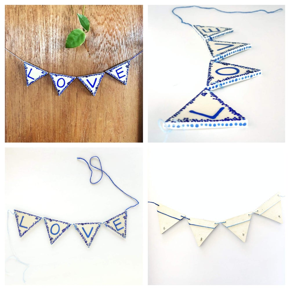 Image of LOVE ceramic bunting