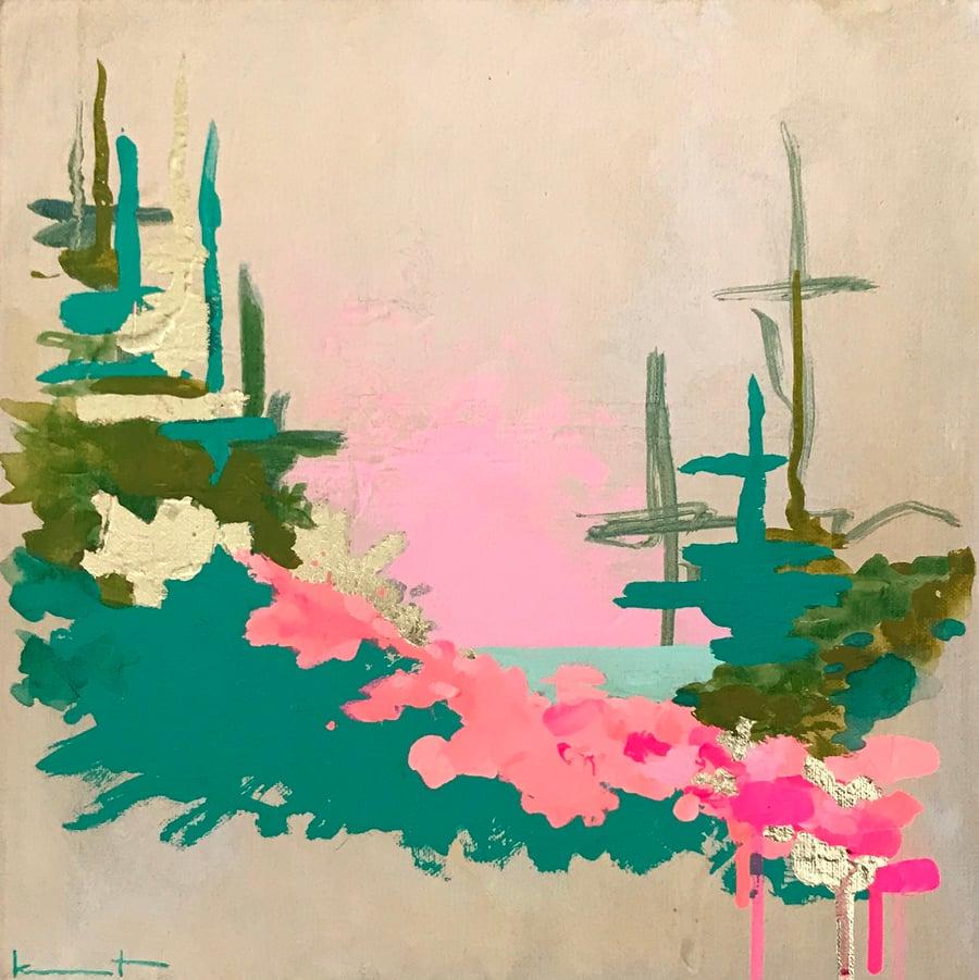 Image of Pink Sky Night No. 24 (emerald, neon creamsicle, pale opera)