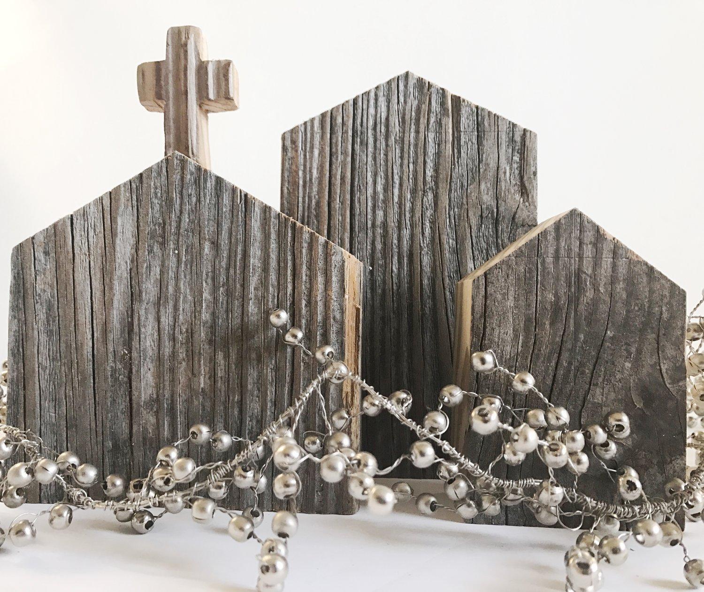 Image of Christmas Village - Raw Wood