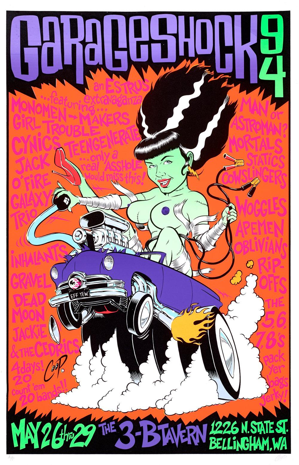 Image of GARAGESHOCK 94 vintage silkscreen print