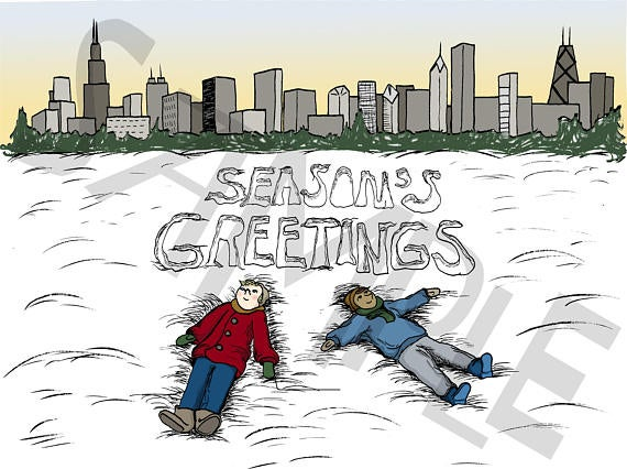 Image of Chicago Season's Greetings Holiday Card