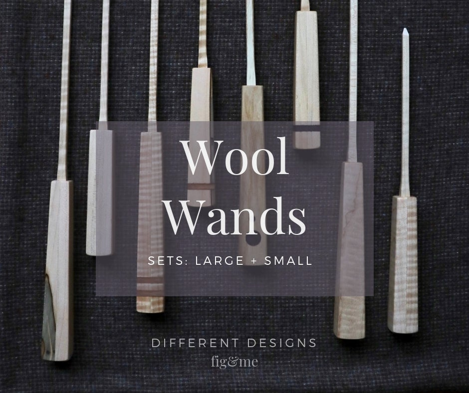 Image of Wool Wands by Fig and Me - Set of 2. Stuffing tools for Doll Making