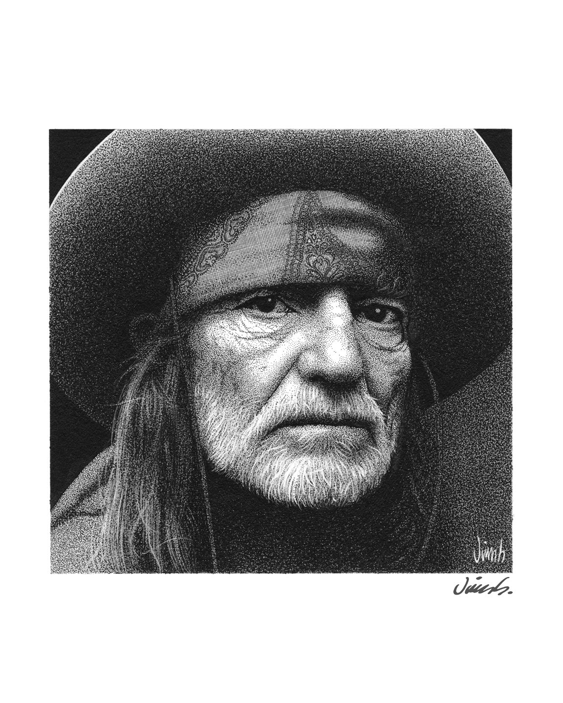Image of WILLIE NELSON poster print