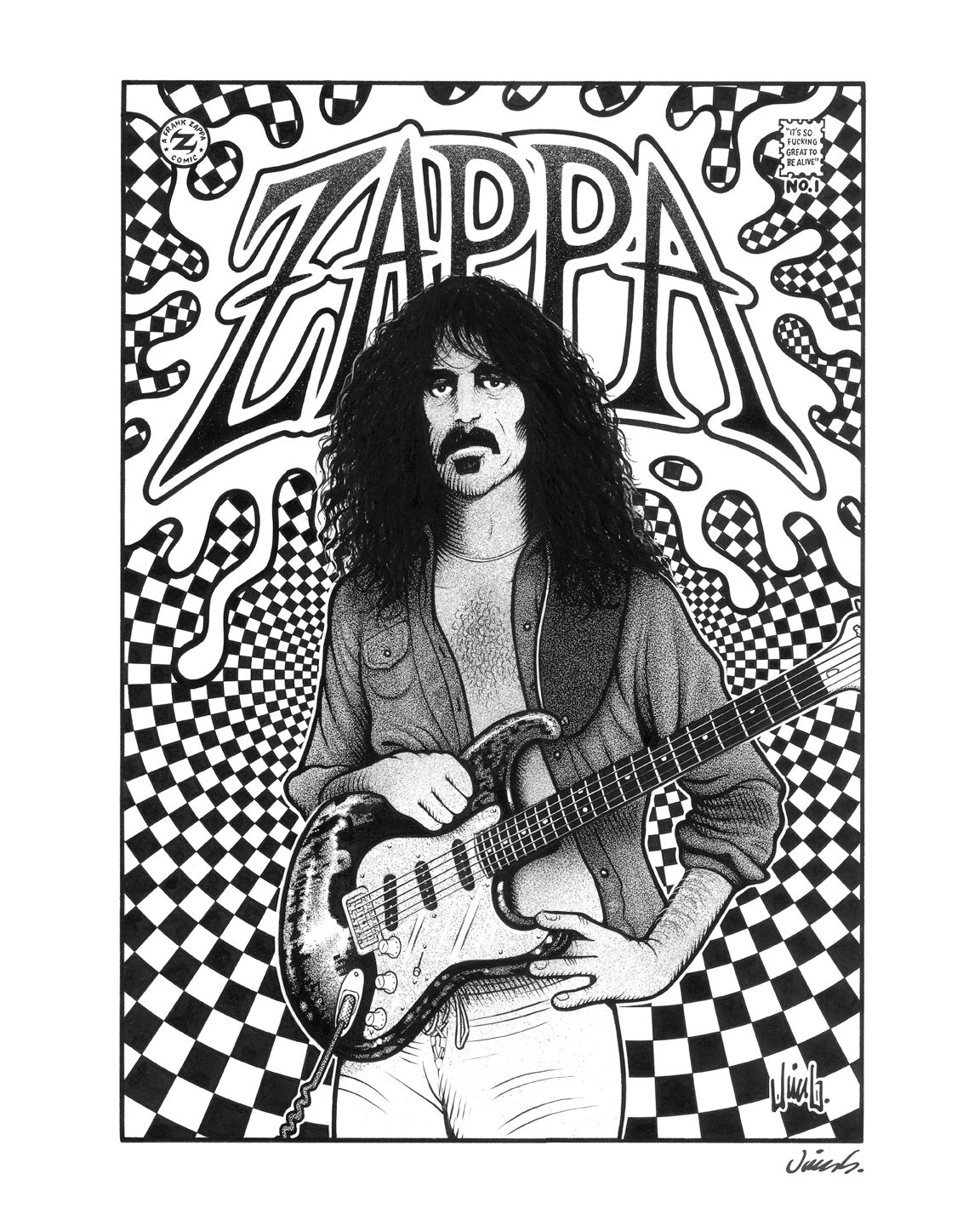 Image of FRANK ZAPPA poster print