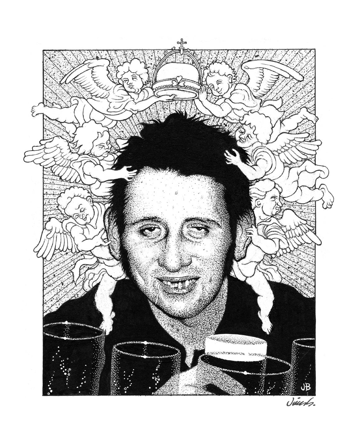 Image of SHANE MACGOWAN poster print