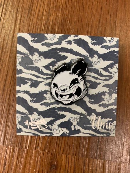 Image of 808 Panda glow in the dark enamel pin