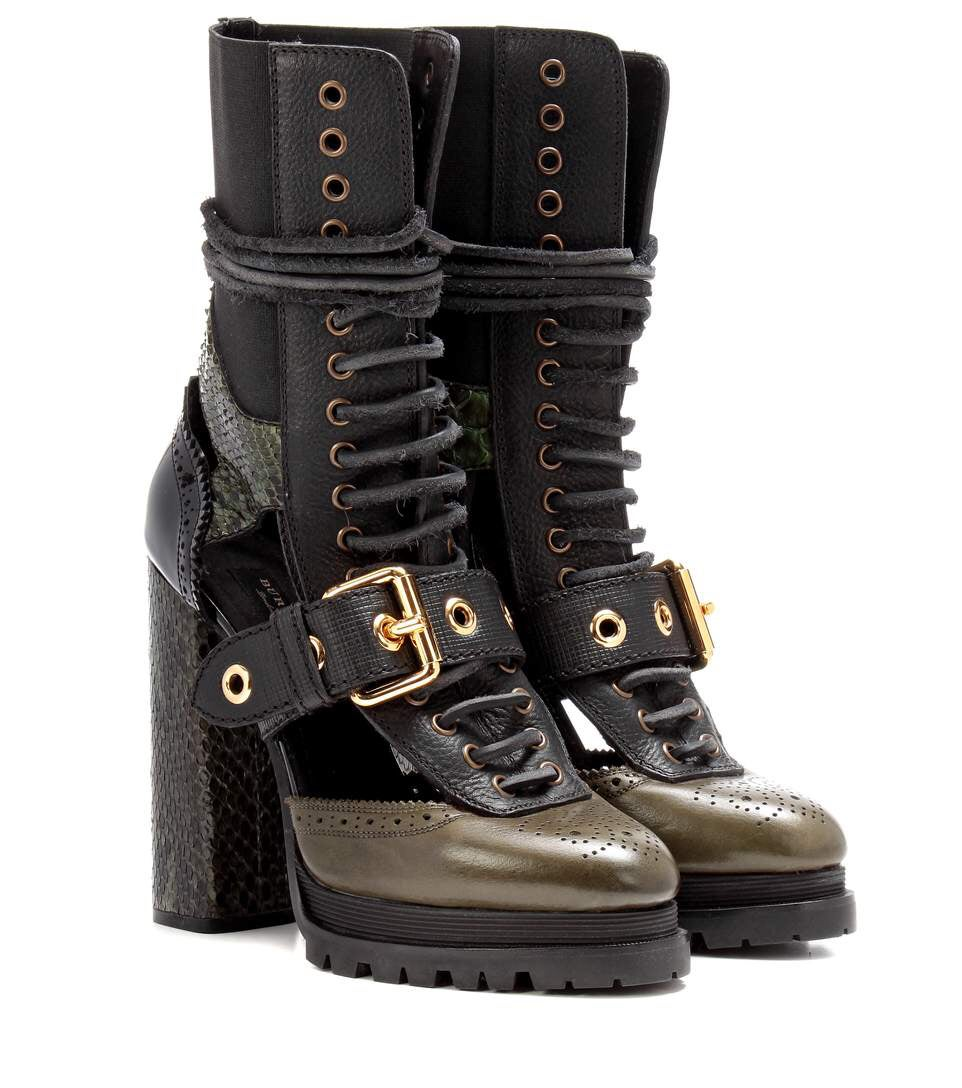 Image of BURBERRY RUNWAY PLATFORM BOOT