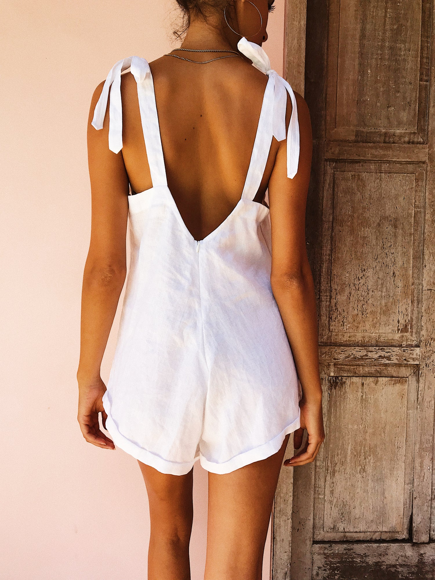 Image of NAPALI PLAYSUIT - WHITE