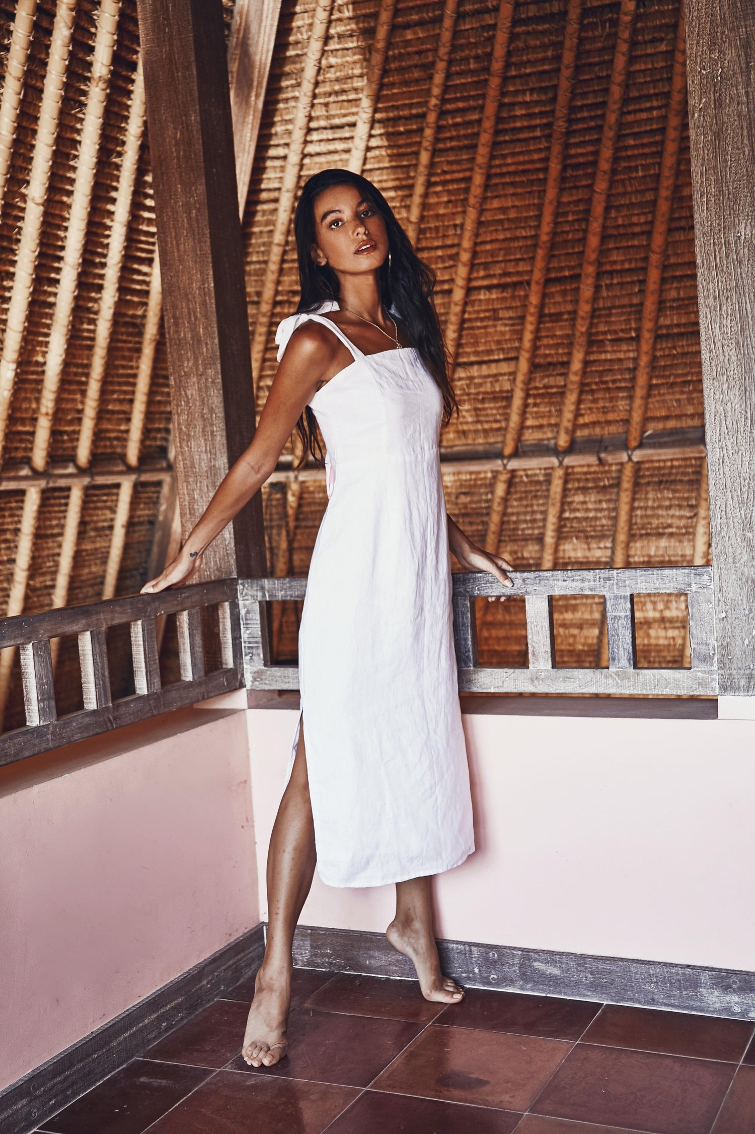 Image of WAIMEA DRESS - WHITE