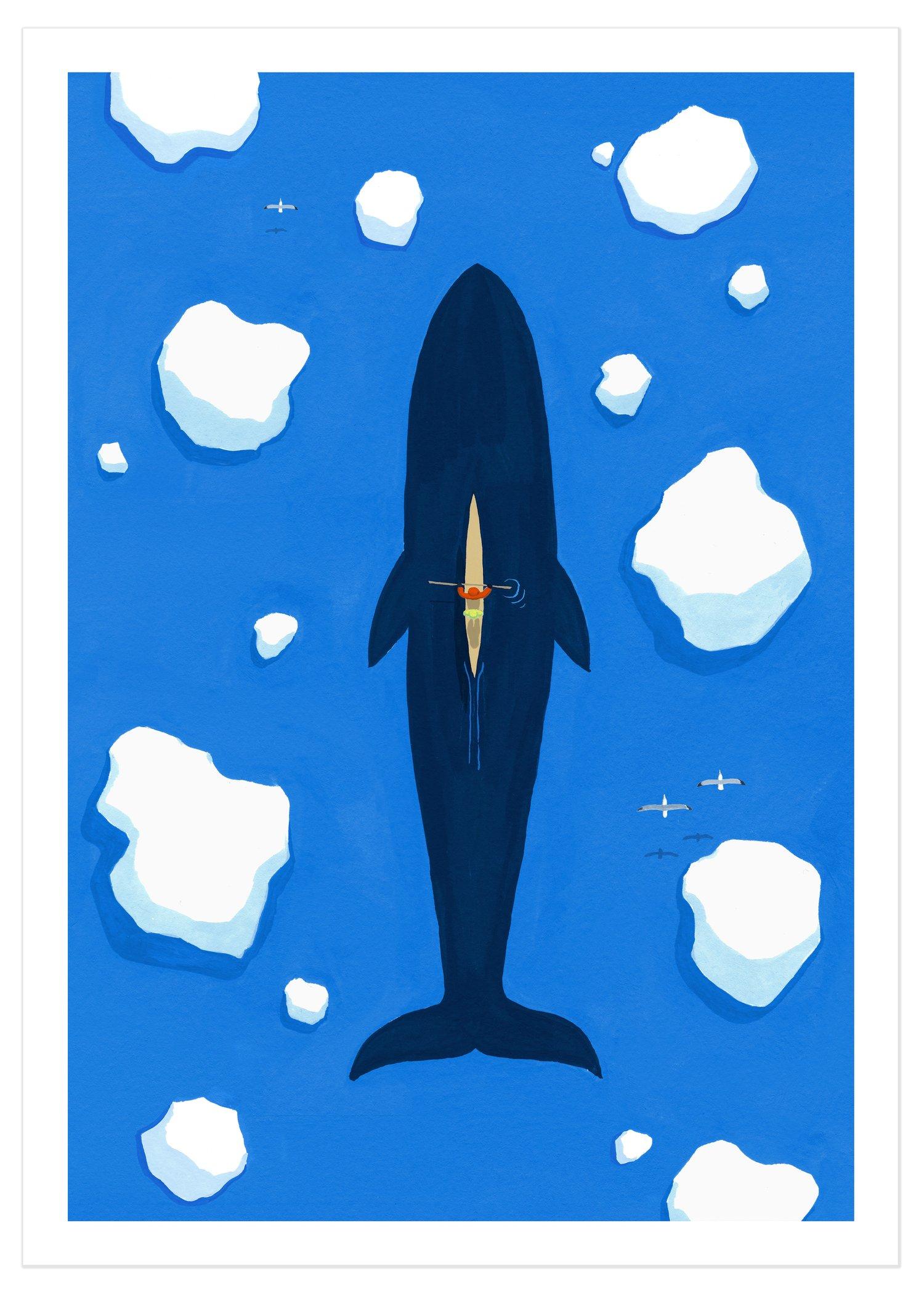 The Whale (signed A3 giclée print)