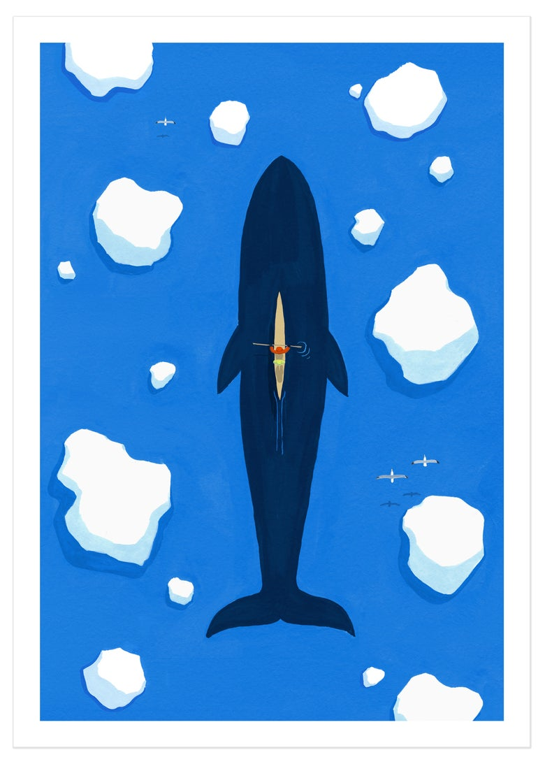 Image of The Whale (signed A3 giclée print)