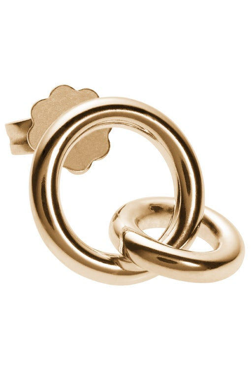 Image of ANTARES earring single gold plated sterling silver