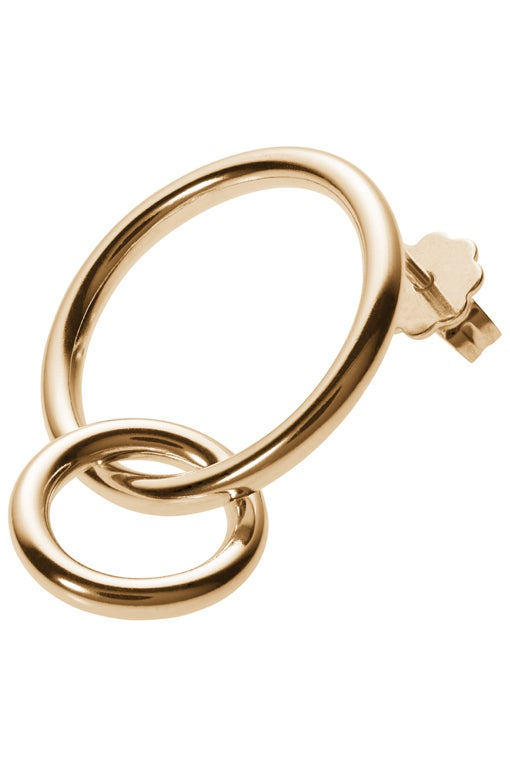 Image of POLLUX earring single gold plated sterling silver