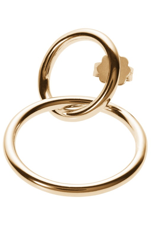 Image of ALTAIR earring single gold plated sterling silver