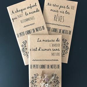 """Image of Carnet de notes """"Ne rêve pas ta VIE mais vis tes RÊVES"""" personnalisable"""