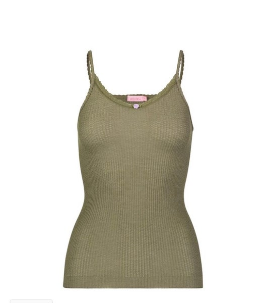 Image of Loden waffle camisole