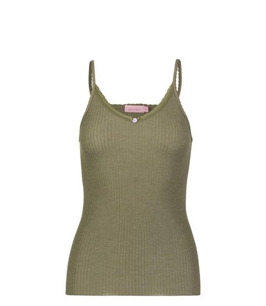 Image of Loden ribbed camisole