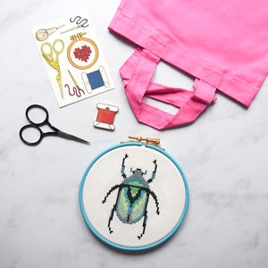 Image of Grey Beetle Complete Xstitch Package