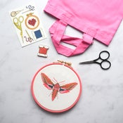 Image of Pink Moth Complete Xstitch Package