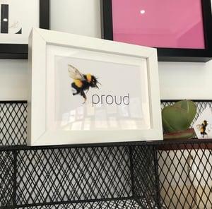 Image of Bee happy, beautiful & proud postcard pack