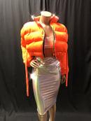 Image 1 of Safety Orange Kay Puffy Jacket