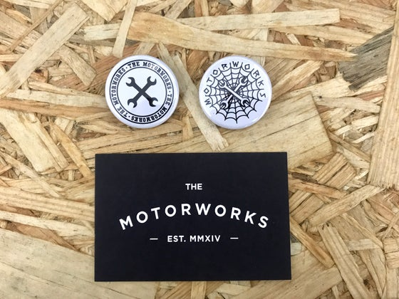Image of MOTORWORKS PIN BADGES