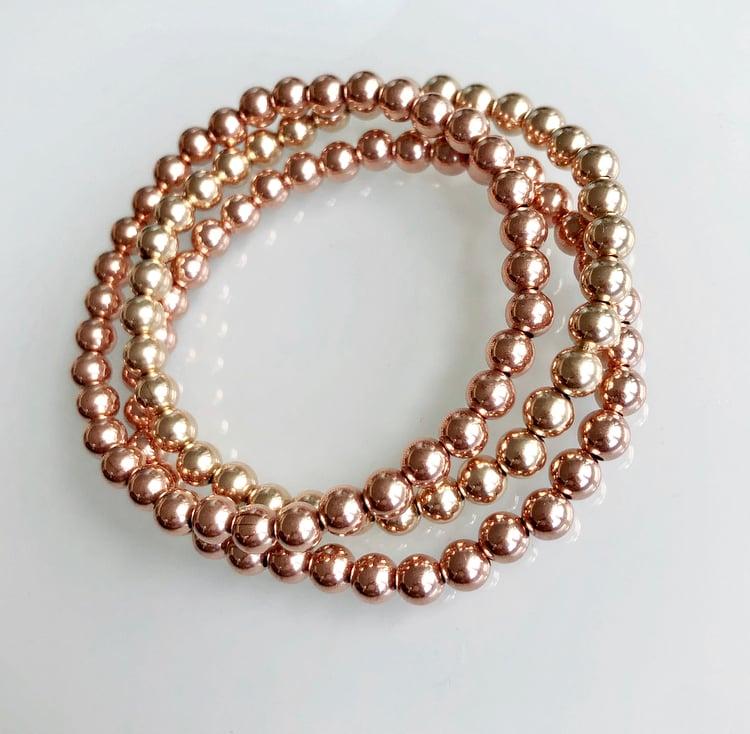 Image of Gold Beaded Bracelet