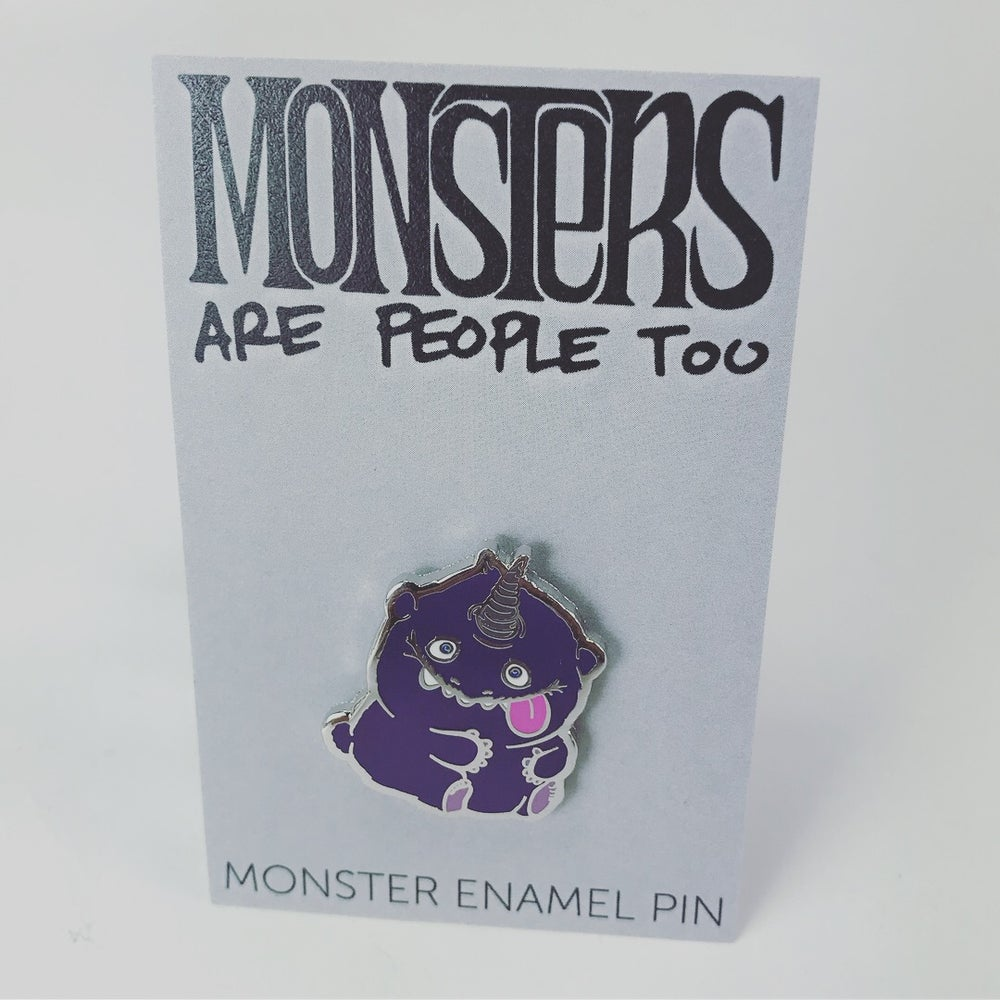 Image of Purple Monster Enamel Pin