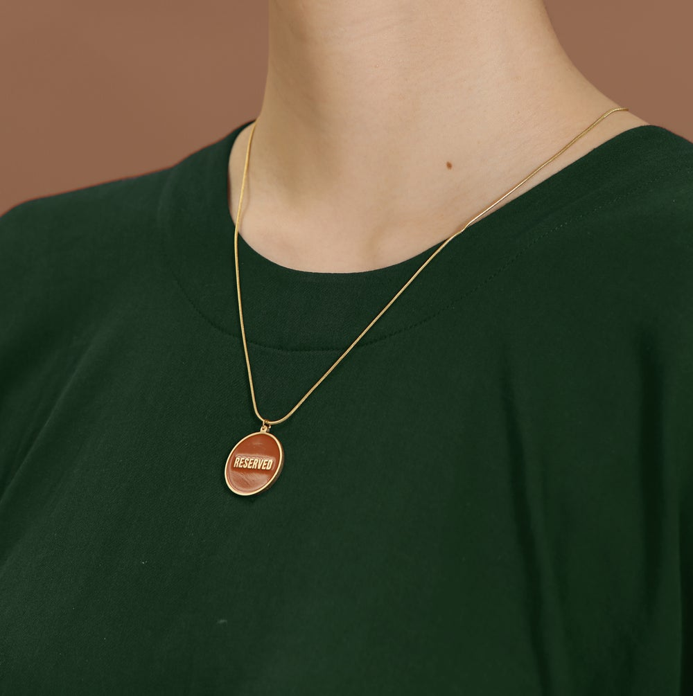 Not for Everyone + Reserved - reversible necklace-
