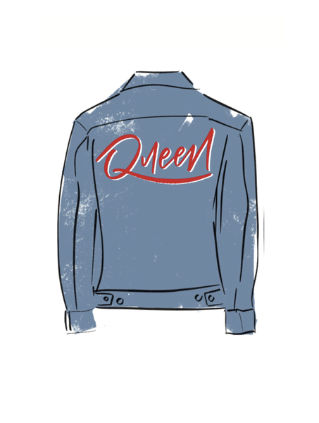 Image of Boss Woman Queen Jean Jacket