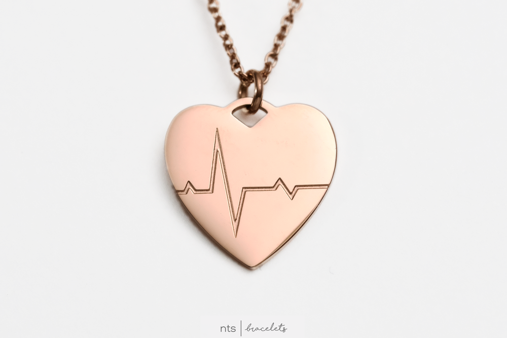 Image of LIMITED EDITION LIFELINE NECKLACE (Heart + Rose Gold)