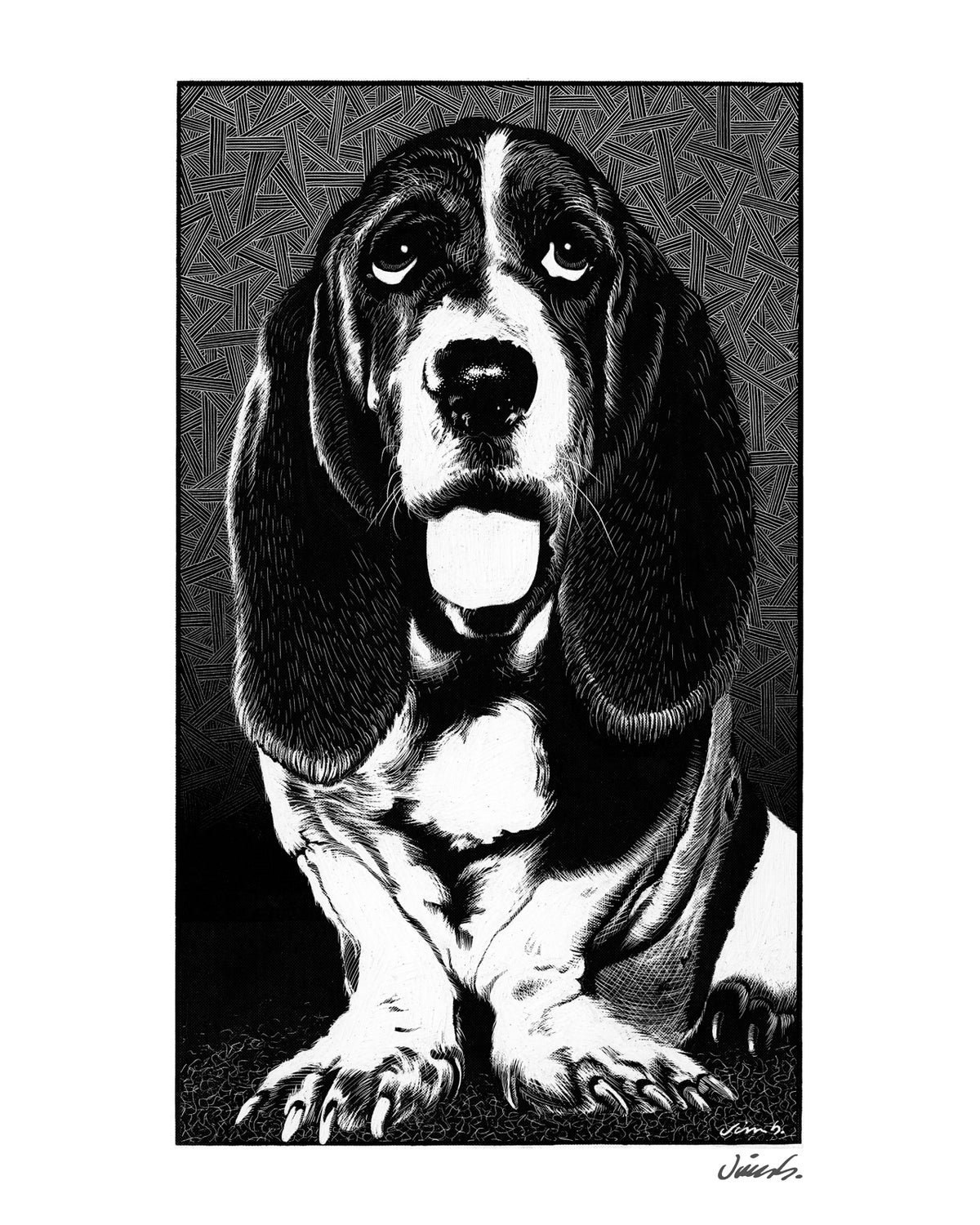 Image of BASSET HOUND poster print