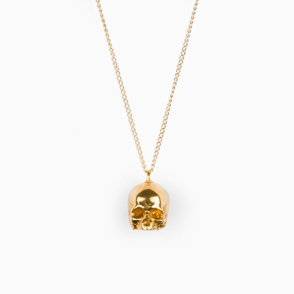Image of JAWLESS SKULL – Gold Plated