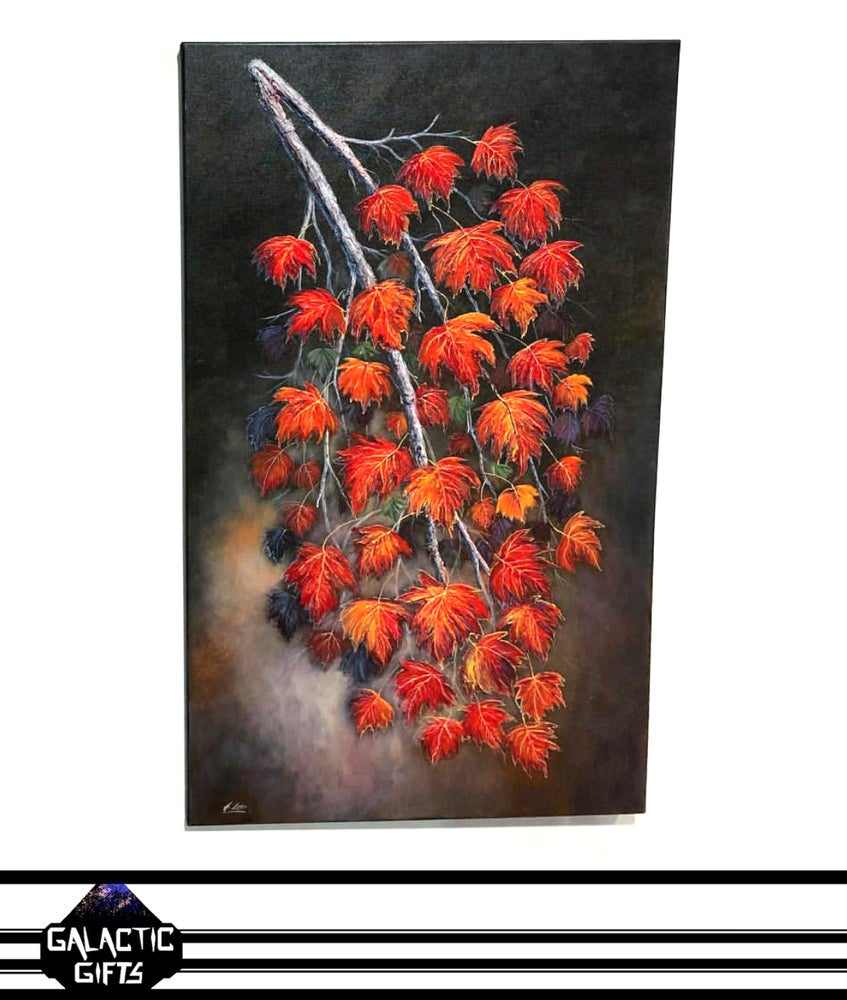 "Image of Henry Lobo ""Maple Branch"" Acrylic Painting"