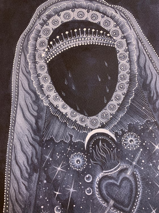 Image of Black virgin. Original. By Claudia