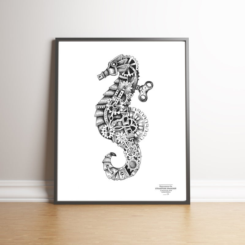 Image of Steampunk Seahorse Limited Edition Print